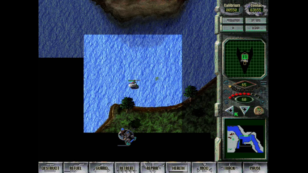 This map was mostly water, and my only water-based vehicle was a hovercraft apparently laden with sixteen-ton weights.